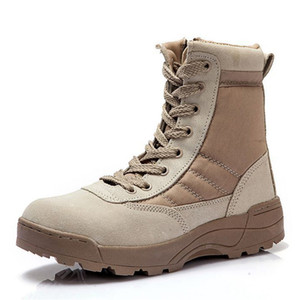 Nuevos hombres Tactical Militar Desert Combat Boots Zapatillas al aire libre transpirables Wearable Sneakers Trekking Fitness Cross-Training Shoes