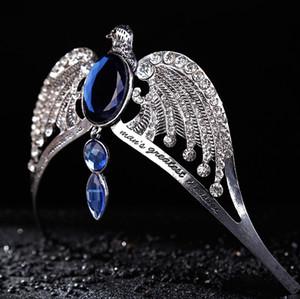 Moda Vintage argento Corvonero diadema Cristallo blu Corvonero College Lost Crown Prom Gioielli per capelli da sposa Jarry Potter Horcrux