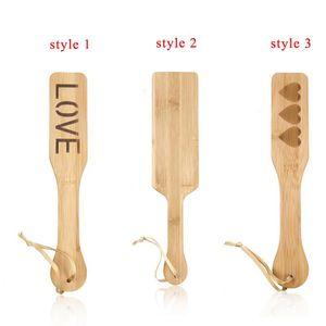 Bamboo Paddle Whip Sculacciata Culo Paddle BDSM Slave Flogger Fetish Giochi per adulti Sex Whip Giocattoli erotici Sesso Per donna Uomo Coppie