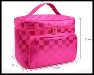 La grande borsa del cosmetico del panno di Oxford di grande womem obbligatorio di obbligazione borsa di lavaggio cosmetica di viaggio del sacchetto portatile di immagazzinaggio lavabile insacca i sacchetti di trucco impermeabili