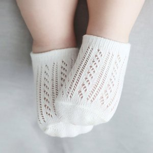 Summer newborn solid hollowed socks, children breathable floor socks