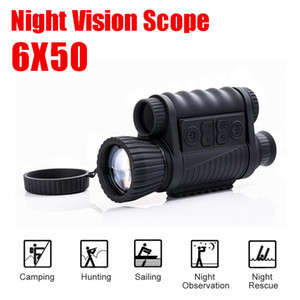 WG650 Hunting Night Vision Optics 6X50 Digital Night Vision Rifle Scope Infrarrojo NV Monocular 200M Range con tarjeta de 32GB GRATIS