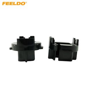 Адаптер FEELDO 2x Автомобильные лампы Оправа Conversion для Hyundai Avante / MISTRA / GRANDEUR HID лампы адаптер держатель # 1339