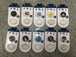 2018 상단 에어백 모바일 패션 전화 스탠드 홀더 360 조정 가능한 자동차 전화 홀더 이어폰 케이블 와인 더 모든 전화 100pcs에 대 한 dhl 무료 shippi
