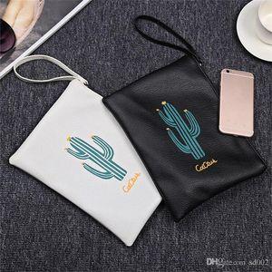 Cacti Printing Zipper Purse Multi Color Donna Portafoglio portatile Bardian Oblong Shape Convenient Handbag Hot Sale 6 37lc dd