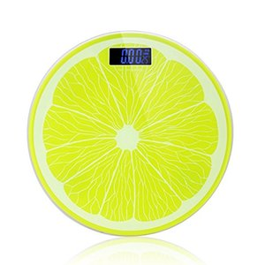 Digital Body Weight Bathroom Scale 400 Pounds Lemon shape Body Fat Scale with Large Easy Read Backlit LCD Display For Women