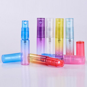 Free Shipping 5ML 1 6 oz Multicolor Atomizer spray perfume glass bottles, liquid sample empty vials LX3034