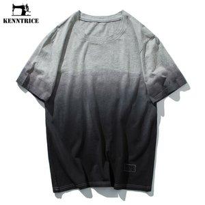 KENNTRICE Men Clothes 2018 Summer Top Uomo T Shirt Gradient Hip Hop Coon T-Shirt Uomo ultimi disegni Tshirt