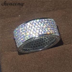 choucong Victoria Wieck completa Pave set 320pcs Diamonique Cz bianco-oro piena anello di fidanzamento Wedding Band Set per Uomo regalo delle donne