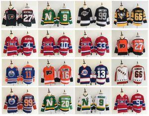 Vintage Eric Lindros Bobby Clarke Wayne Gretzky Mario Lemieux Selanne Philadelphia Flyers New York Rangers La Angeles Kings Hokey Jersey