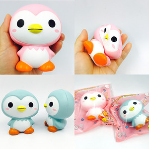 Squishy toptan 10 adet kawaii nadir squishy sevimli penguen yavaş yükselen squishy paketi ile çocuklar oyuncak hediye sıkmak Ücretsi ...