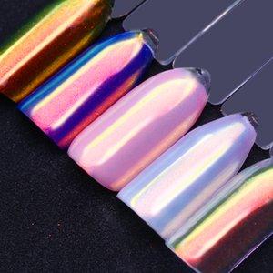 0.2gram Unicorn Chrome Glitter Efeito Metálico Prego Em Pó Espelho Nail Art Fada Pigmento Cromo Sereia Em Pó