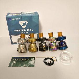 Новые MANTA MTL RTA клон сменный бак форсунки одной катушки испаритель 2 мл / 3 мл с 510 капельного наконечника Fit моды высокое качество горячей продажи DHL