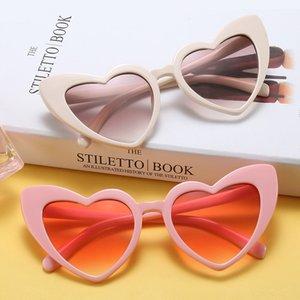 Nette Frauen-Sonnenbrille-Mode-Herz-geformte Sonnenbrille europäische und amerikanische modische Katzenauge-Sommer-Gläser Freies Verschiffen