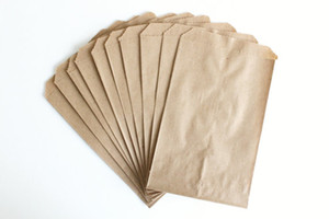100 Papel Kraft Brown plana Bolsas 5X7 pulgadas