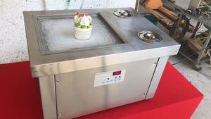 ЕС США Бесплатная доставка до двери 35*35 см кастрюля столешница жарить мороженое машина столешница Жареное мороженое машина настольный рулон мороженого машина