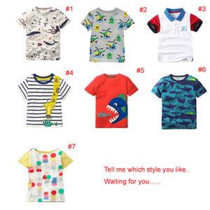 2018 INS NEUE ANKUNFT Jungen Mädchen Kinder Kleidung Kurzarm Cartoon Animal Print T-Shirt Kind Baby Sommer cool lässig T-Shirt