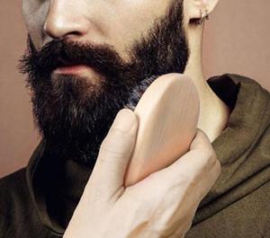 Beard Bro Shaping Beard Brush Sexy Man Gentleman Beard Trim Template Grooming Shaving Comb Styling Tool Wild Boar Bristles