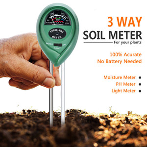 3 In 1 Ph Tester Soil Water Moisture Light Test Meter Kit Garden Plant Flower Soil Acidity And Humidity