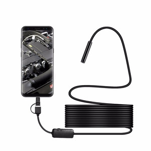 Envío gratuito 8 MM Micro USB Tipo-c USB 3-en-1 Computadora endoscopio Borescope Tubo impermeable USB Inspección 1200 P Cámara de video para Android