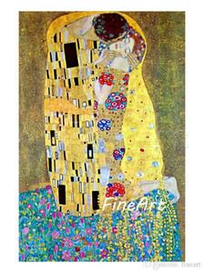 Hanpainted картина маслом репродукция известного художника Густава Климта Kiss холст картина скидка декор стен цитаты холст картины маслом дек