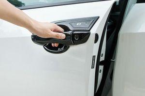 Haute qualité ABS Chrome 8pcs Poignée de porte de la porte de la porte de la décoration de la décoration de la décoration + bol de poignée de porte 4pcs avec logo pour Honda Civic 2016-202020