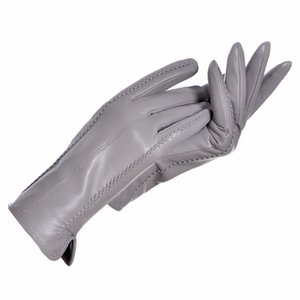 YCFUR Echtes Leder Handschuhe Frauen Warme Dame Echte Schaffell Handschuhe Warme Futter Winter Weibliche Handschuhe Leder D18110705