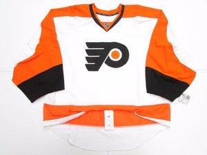 Billige benutzerdefinierte PHILADELPHIA FLYERS AUTHENTIC AWAY EDGE JERSEY GOALIE CUT 60 Herren genäht personalisierte Hockey Trikots