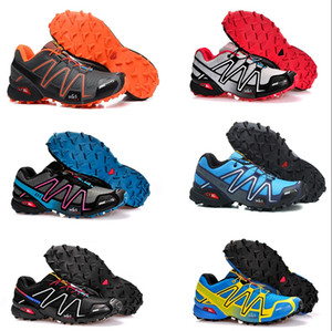 Salomon Speed Cross 4 designer shoes Speed Cross 3 CS III Outdoor Maschile Camo Red Black Sports Scarpe da corsa mens Crosspeed 3 scarpe eur 40-46