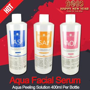 Máquina hydrafacial profissional uso aqua peeling solução 400 ml por garrafa aqua facial soro facial Hydra facial para a pele normal CE / DHL