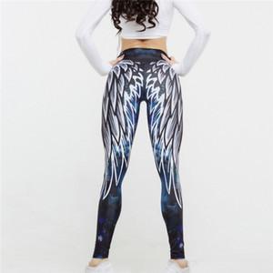 Polyester Simenual Harajuku 3d Kanat Tozluklar Kadınlar İçin Spor Spor Legging Athleisure Vücut Seksi Kadın S Pantolon Push Up