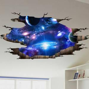 Kreative 3D Universum Galaxy Wandaufkleber Für Deckendach selbstklebende Wandbild Dekoration Persönlichkeit Wasserdicht Boden Aufkleber