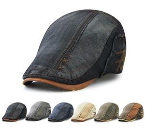 Nouveaux bonnets adultes en coton bérets pour hommes en gros des explosions en plein air protection solaire crème solaire avant chapeau lavé denim casual sunhat