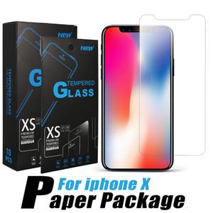 Premium Screen Protector para el iPhone 12 11 Pro Max vidrio templado protege la película para Samsung P40 Note20 Huawei LG Stylo 5 con paquete al por menor