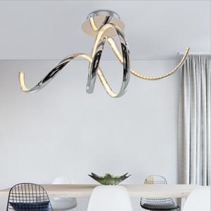Moderna elegante sprial design de alumínio K9 CONDUZIU a lâmpada do teto superfície montada luzes de teto lamparas plafons LEVOU para sala de jantar