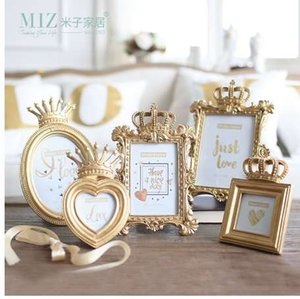 Miz 1 Stück Bachelor-Stil Gold Luxus Bilderrahmen für Home Photo Frame Set