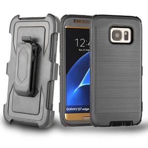 Coque blindée hybride avec clip de ceinture robuste 3 en 1 pour iPhone X 8 7 6 Samsung S7 Edge S8 S9 Plus