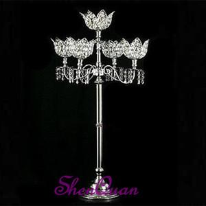 los titulares de las velas de huracán de metal antiguo, flor de loto de cristal del titular de la vela favores de la boda, soporte de vela votiva de cristal copo de nieve