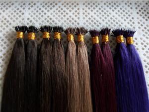 """Remy индейца Nano Extensions волос 16 """"18"""" 20 """"22"""" 24"""" 1 г / с 100г / рк Remy индейца человека MICRO NANO RINGS Совет Расширения волос"""