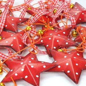 Küçük Bell Noel ağacı Dekorasyon 2018 ile Ana 12pcs Vintage Metal Noel Yıldızı İçin YENİ Tasarım Noel
