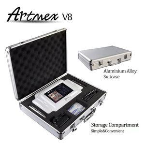 Date Intelligent 2 en 1 PMU MTS Tatouage Équipement de Maquillage Permanent Double Stylo Micropigment Numérique Artmex V8 DHL Livraison Gratuite