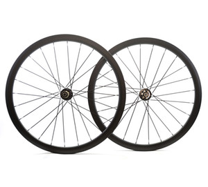 Ruote montate su disco stradale 38mm di profondità Copertoncino / tubolare Cerchi in carbonio asimmetrico 25mm larghezza disco ciclocross ruote in carbonio per bici
