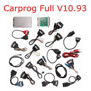 2018 최신 Carprog V10.93 Carprog 전체 최신 버전 (전체 21 개 항목으로 어댑터) 지원 에어백이 작동 음 CARPROG V10.93 재설정