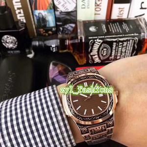 Homens Automatic Relógios Worldwide Hot Venda de Alta Qualidade Moda Assista Rose Gold esculpidas relógio frete grátis