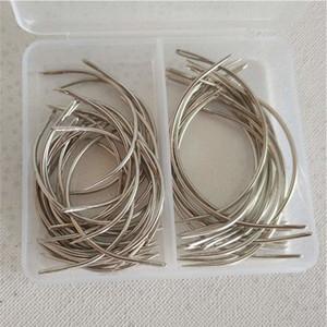 Reparación 50pcs Combo reparto C Tipo del pelo de la armadura de la aguja lienzo Weaving curvo agujas de coser botones 2,5 pulgadas 30pcs + 20pcs de 3 pulgadas