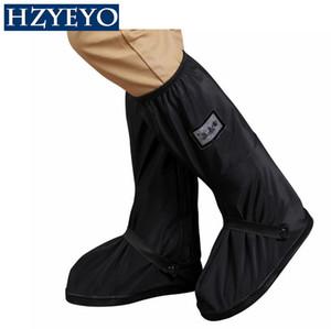 HZYEYO moto Chaussures de pluie housses imperméables Bottes Thicker Scootor antidérapant couvre 100% imperméable Réglage Tiraillements, B-9001