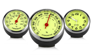 Luminoso Orologio Termometro Igrometro Automobile Car Dashboard Decorazione Ornamenti Automotive Watch Car Styling Accessori