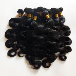 Cutícula completa alineada Cabello de gama alta Europeo brasileño virgen Trama del cuerpo del cabello humano onda 8-28 pulgadas Extensiones de cabello remy indias larga vida útil
