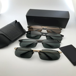 En kaliteli Marka güneş gözlüğü mens tasarımcı güneş gözlüğü polarize ışık Güneş Gözlüğü memuru için uygun klasik askeri gözlük ...