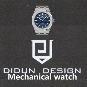 DIDUN Mens Automatico Orologi Meccanici Top orologi da uomo in acciaio maschio affari orologio impermeabile
